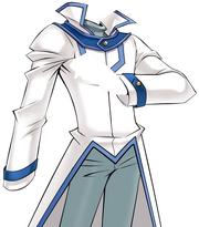 Obelisk Blue Uniform - WHITE INVERTED