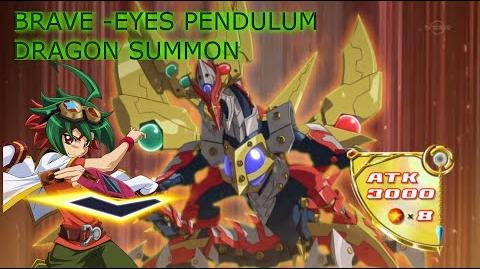 (Eng Subbed) Brave Eyes Pendulum Dragon Fusion Summon & Effect ブレイブアイズ・ペンデュラム・ドラゴン (Sakaki Yuya)