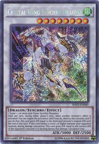 YuGiOh! TCG karta: Crystal Wing Synchro Dragon