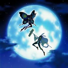 """Lunalight Purple Butterfly"" và ""Lunalight White Rabbit"" trong artwork của ""Lunalight Reincarnation Dance""."