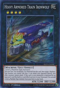YuGiOh! TCG karta: Heavy Armored Train Ironwolf