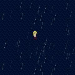 Endless, rainy sea.