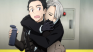 Victor hugs Yuri