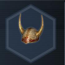 Golden Horned Helm