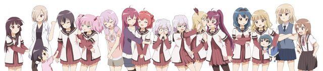 File:Yuruyuri characters.jpg