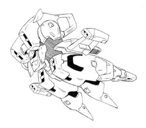 OZ-07AMS Aries Side View Lineart with missing arm