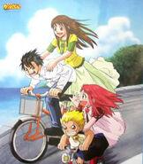 Bike ride across Mochinoki (Zatch Bell)
