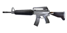 W m rifle m16a2 측면