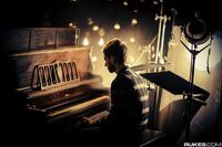 Zedd playing the piano in the Stay the Night music video