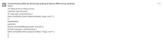 ChaoticShadow's magical Zedd JavaScript