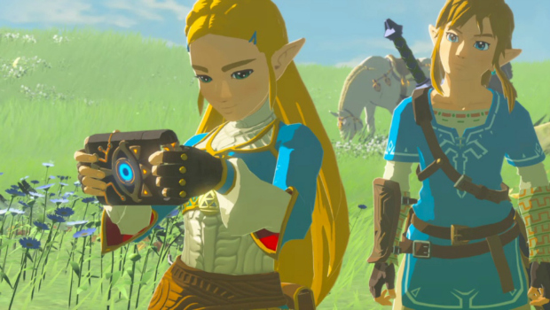File:Breath of the Wild Sheikah Technology Sheikah Slate (Princess Zelda, Link, & Royal White Stallion - Recovered Memory - cutscene).png