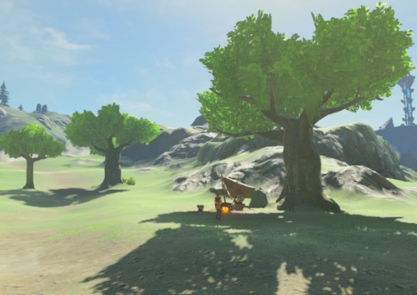File:Breath of the Wild Faron Grasslands Mounted Archery Camp (Faron).png