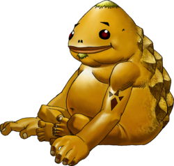 Artwork of a Goron from Ocarina of Time