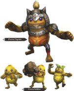 Hyrule Warriors Allied Units Goron Forces (Render)