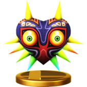 Super Smash Bros. for Wii U Trophies Majora's Mask (Render)