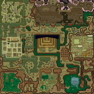 A Link to the Past Overworld Map (Dark World)