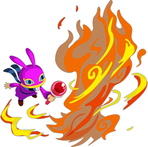 File:A Link Between Worlds Ravio Fire Rod (Artwork).png