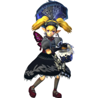 Hyrule Warriors Agitha Standard Outfit (Black Lolita Recolor - Master Quest DLC)