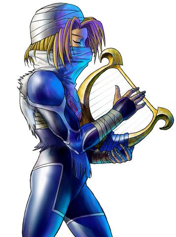File:Ocarina of Time 3D Artwork Sheik.png
