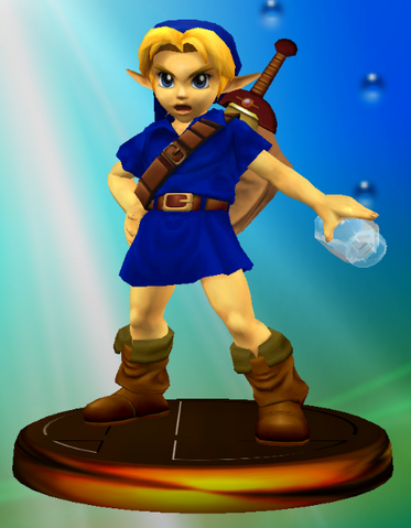 File:Young Link All-Star Trophy (Super Smash Bros. Melee).PNG