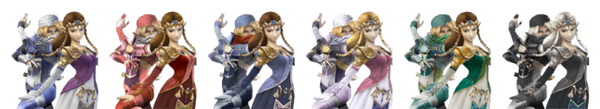 Princess Zelda & Sheik Palette Swaps