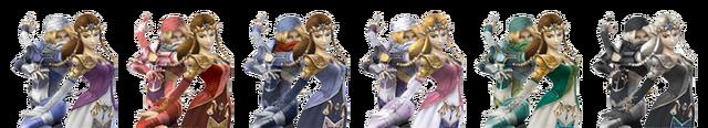 File:Princess Zelda & Sheik Palette Swaps.png