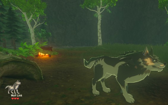 File:Breath of the Wild amiibo Rune Companions Wolf Link (Great Plateau).png