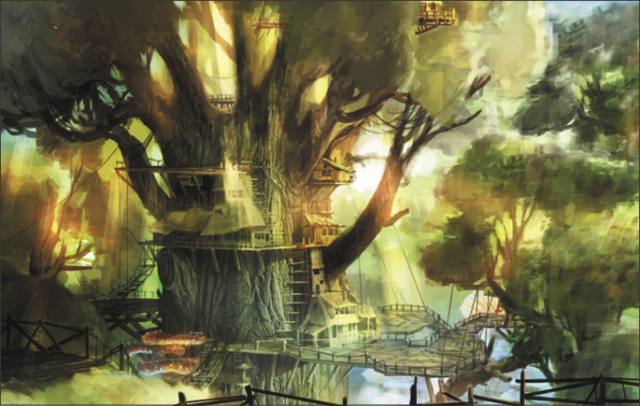 File:Hyrule Warriors Locations Faron Woods - Village (Concept Art).png