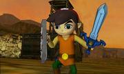 Hyrule Warriors Legends Toon Link Standard Outfit (Koholint - Tarin Recolor - Victory Cutscene)