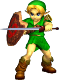 Link bambino in Ocarina of Time