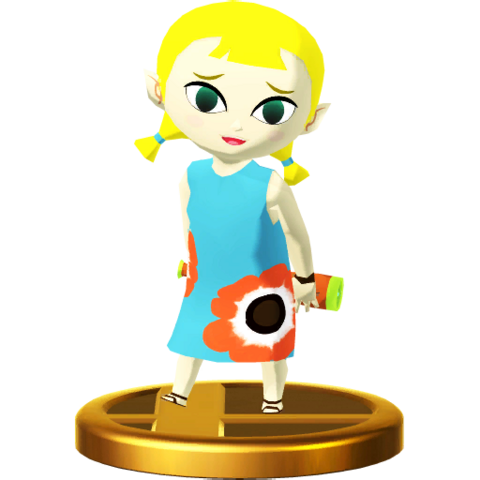 File:Super Smash Bros. for Wii U Aryll (The Wind Waker) Aryll (Trophy).png