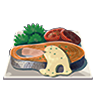 File:Breath of the Wild Food Dishes Salmon Muenière (Icon).png