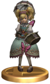 Super Smash Bros Brawl Trophies Agitha (Trophy Render)
