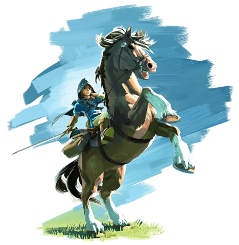 File:Link and Epona (Breath of the Wild).png