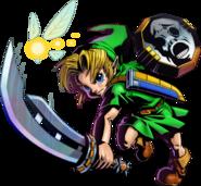Majora's Mask 3D Link Razor Sword & Mirror Shield (Artwork)