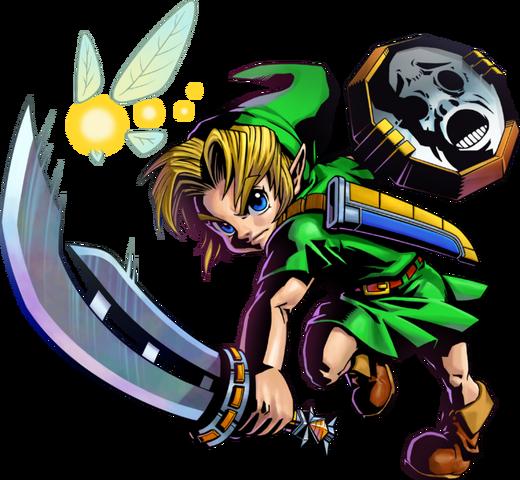 File:Majora's Mask 3D Link Razor Sword & Mirror Shield (Artwork).png