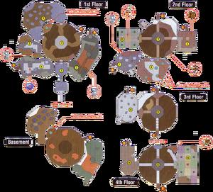 Snowhead Temple Map