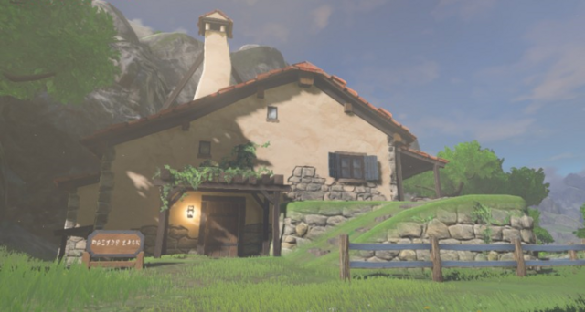 File:Breath of the Wild Hateno Village Link's House (Exterior).png
