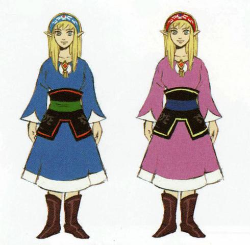 File:Skyward Sword Artwork Zelda - Beta Designs (Early Concept Artwork).png