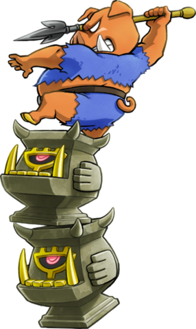 File:Tri Forces Heroes Artwork Totem Armos Moblin on top of Armos Totem (Offical Artwork).png