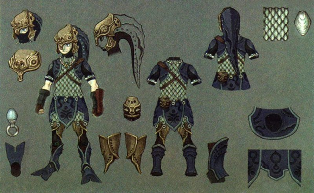 File:Twilight Princess Artwork Zora Armor (Concept Art - Hyrule Historia).png