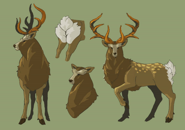 File:Breath of the Wild Artwork (Wildlife) Mountain Deer (Concept Art).png