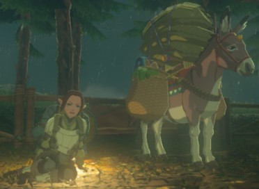 File:Breath of the Wild Merchants (Travelers) Yammo & her Donkey (Serenne Stable).png