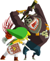 File:Moblin attacking Link.png