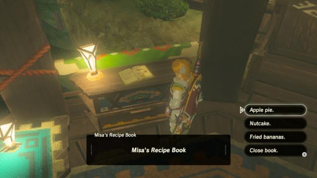 File:Breath of the Wild Cook Books Misa's Recipe Book (Rito Town Slippery Falcon).png