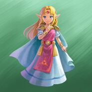 Princess Zelda Artwork (A Link Between Worlds)