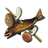 Breath of the Wild Food Dish (Skewers) Fish and Mushroom Skewer (Icon).png