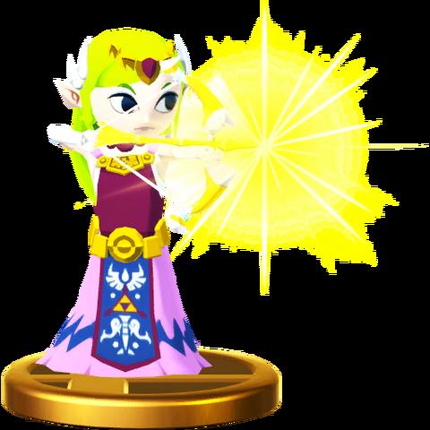 File:Super Smash Bros. for Wii U Princess Zelda (The Wind Waker) Toon Zelda (Trophy).png