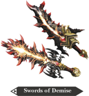 Hyrule Warriors Great Swords Swords of Demise (Render)
