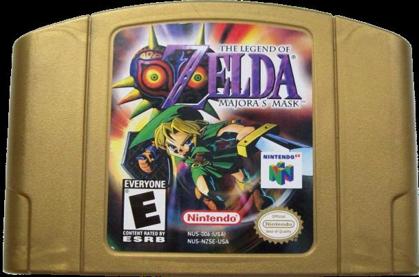 File:The Legend of Zelda - Majora's Mask Gold Cartridge.png